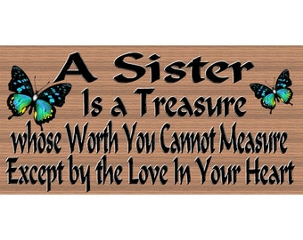 Sister Wood Sign - Sister Plaque - GS2570 - Sister Gift - Sister Wood Sign
