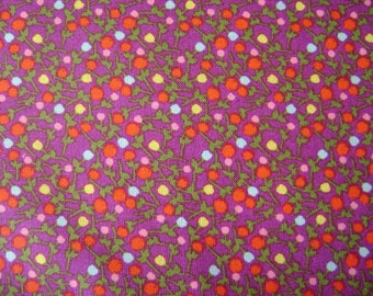 Small Flowers Purple Cotton Fabric sold by the yard