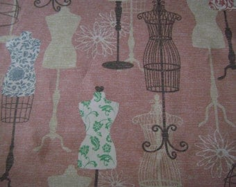 Vanity Blush Cotton Duck Fabric by the yard