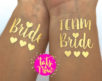 Bachelorette Party tattoos Bachelorette tattoos gold bachelorette temporary tattoos