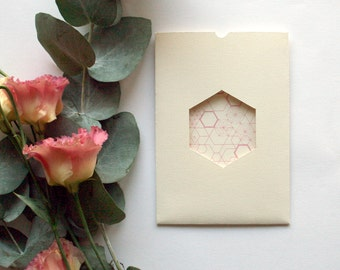 Blush Geometric wedding invitation & RSVP card SAMPLE*