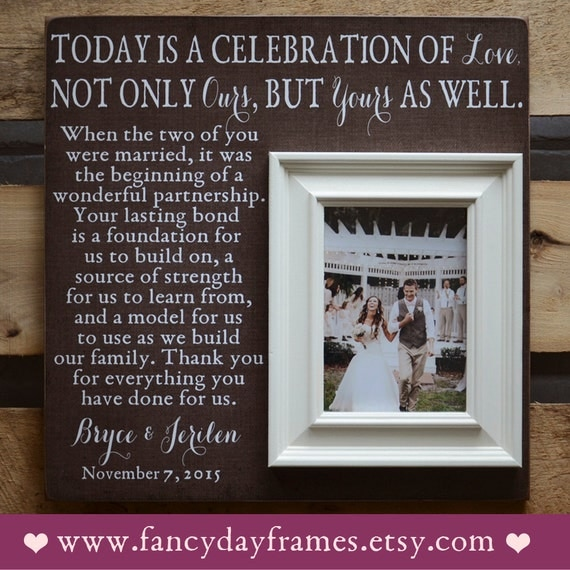 Memorable Wedding Gifts For Parents : THANK YOU Wedding Frame, Today Is A Celebration Of Love, Parents Gift ...