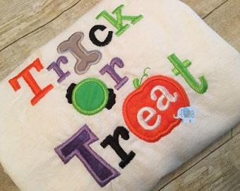 Trick or Treat Onesie or Tshirt