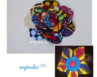 Barrettes and clips,African Print Flower Pin,Hair Accessory, Ankara Floral Lapel Pin,African Print Belt,Belts,Flower Brooch,Gift,Hair ribbon