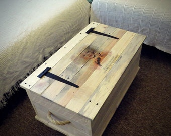 Small trunk/chest coffee table, storage, wedding gift.