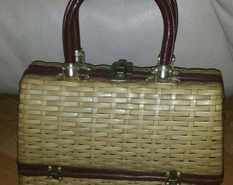 Vintage Wicker Handbag Simon by Mister Ernest
