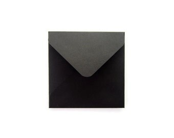 2x2 3x3 4x4 5x5 card envelopes/ Black Square Envelope/ Various Square Envelope Sizes / Eclipse Black / Set of 12