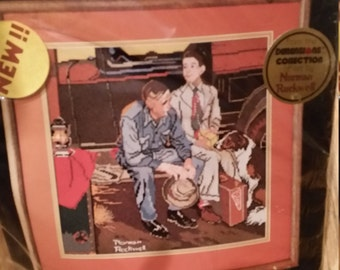 Dimensions needlepoint from the art of Norman Rockwell, Breaking Home Ties