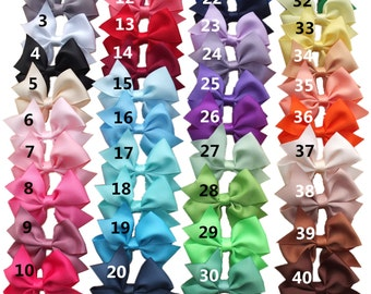 Set of 10-40 pcs,3.5 inches Hair bows,40 Colors Available,Infant bows, Hair clip with bows,toddler bows, baby/girls hair bows,gift for baby