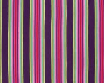 CHIPPER by Tula Pink for Free Spirit Fabrics - Tick Tock Stripe in Raspberry