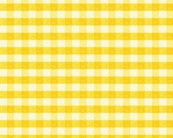 Puddle Jumpers Yellow Gingham cotton fabric, by Kathy Brown
