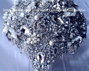 SALE! full price great gatsby,Crystal brooch bouquet, Cascading Brooch Bouquet, bouquet de fleur, Brooch Bouquet, Jeweled Bouquet
