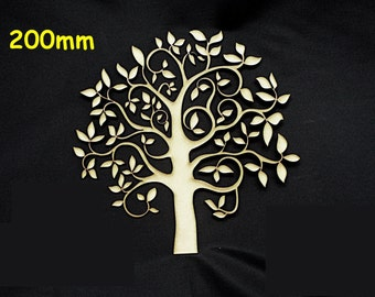 Family Tree 200mm High Quality 3mm MDF multiple pack sizes