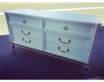 Modern White and Gold Dresser, buffet, credenza, midcentury
