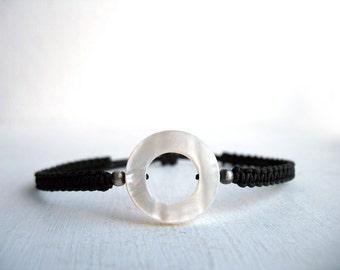 Men's string bracelet, bohemian, anniversary for men, bestfriend bracelet, black jewelry men, anniversary gifts, knitted bracelet