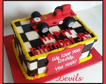 Race Car Cake Topper Etsy