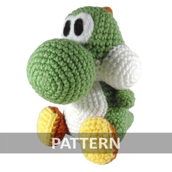 Amigurumi Yoshi Patron Gratuit : PATTERN Yoshi Amigurumi Crochet Plush PDF