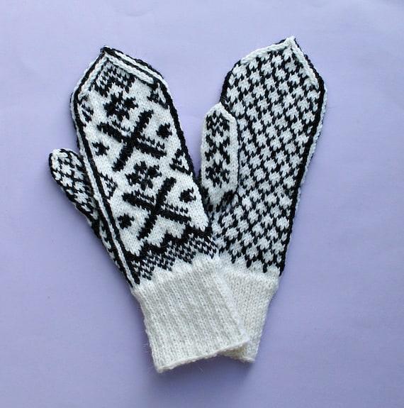 Norwegian gloves fair isle gloves Norwegian mittens fair