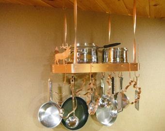 Hanging pot rack Etsy