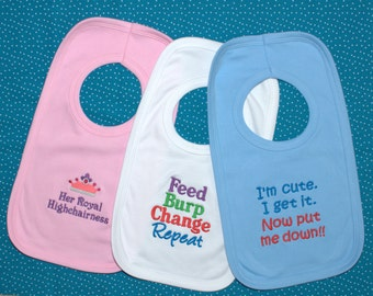 Reduced** Cute/Funny Baby Bibs
