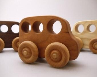 Little Hardwood Van - toy car -  wood car - handmade - natural