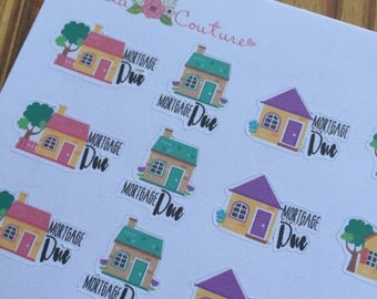 Mortgage Due Planner Stickers by Ella Couture by Jessica