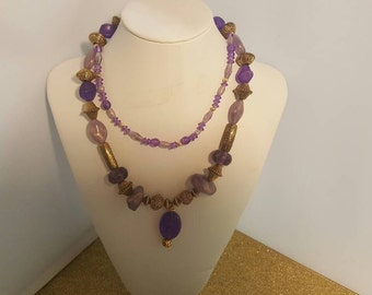 Purple and gold necklace  237