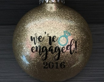 We're Engaged Ornament,Engagement Ornament, Engaged Ornament, Personalized Engagement Gift, Engagement Christmas Ornament, Just Engaged Gift