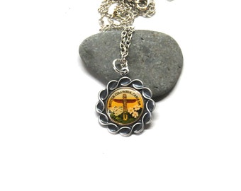 totem necklace, first nations necklace, west coast necklace, british columbia necklace