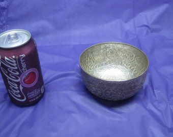 Antique Chinese Silver Plated Bowl Marked