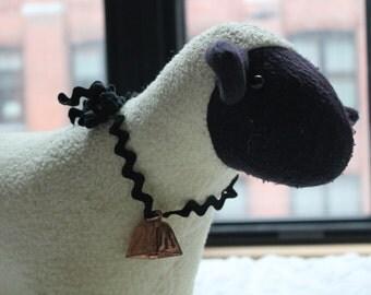 Vintage Plush Black and White Sheep