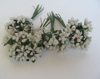 Decorative Wire Flowers - for Wreaths - Home Decoration Table - Bouquets   approx  4'' long