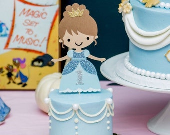 Princess Cake Topper (Princess Party, Princess Birthday, Princess Decorations)
