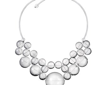 Necklace Bulle Classic Transparent hollow glass beads