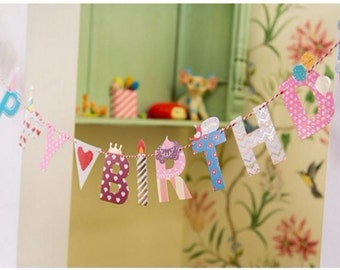 Fun Happy Birthday Party Letter Banner