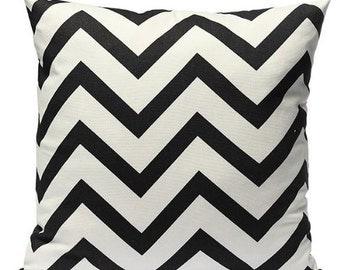 Black Chevron - Pillow Cover