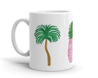 Palm Beach Mug - Palm Tree Mug - Pineapple Mug - Flamingo Mug