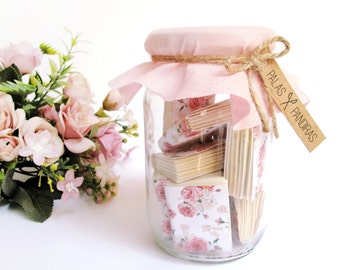 Jar of Floral Notebook