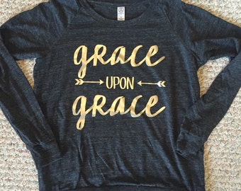 Grace upon Grace slouchy pullover