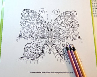 Gypsy Moth Adult Coloring Page