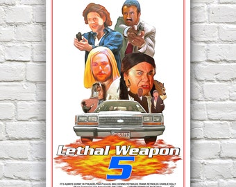 "Lethal Weapon 5 -  It's Always Sunny In Philadelphia Print - 12"" x 18"""