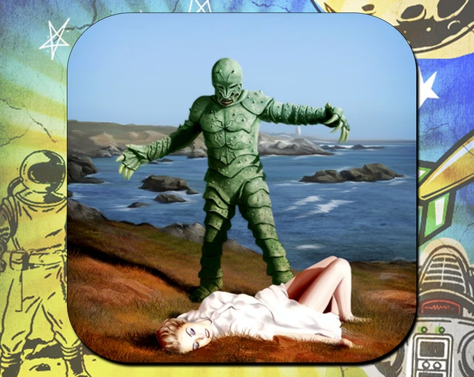 Monster of Piedras Blancas Coaster Set