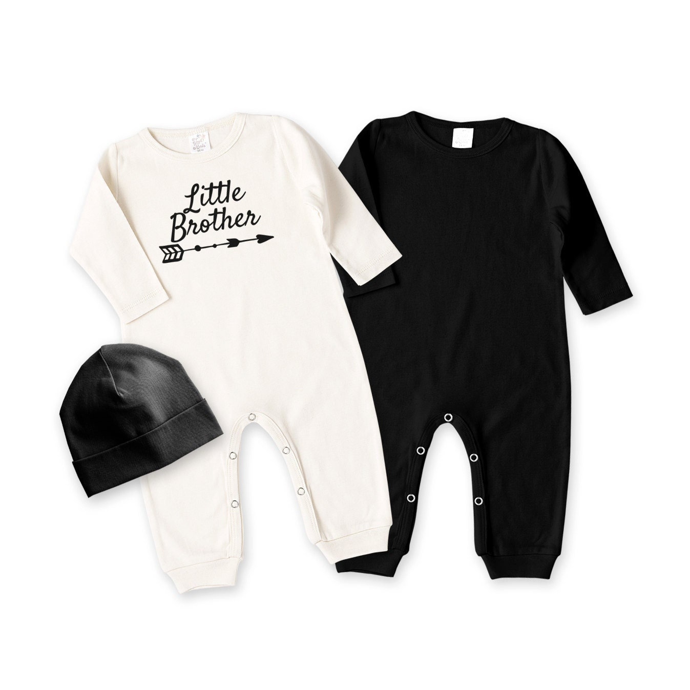 Black t shirt for babies - Newborn Little Brother Coming Home Outfit Black White Baby Outfit Baby Boy Romper
