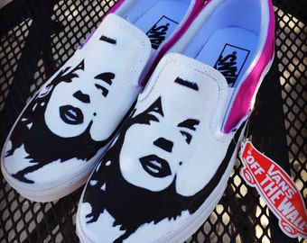 Marilyn Monroe Adult Custom Vans Shoes