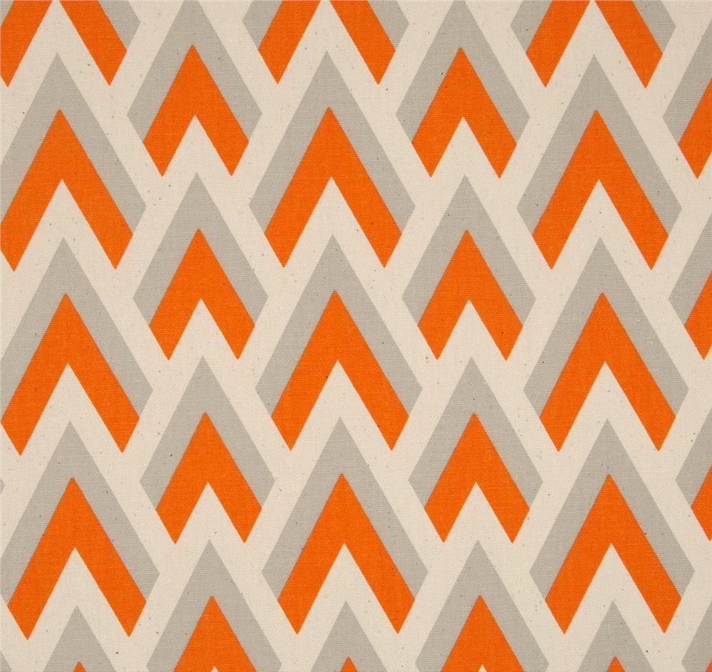 Mandarin orange fabric zapp orange and natural premier for Fabric supply