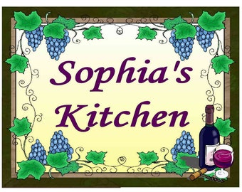 Personalized Grapes Kitchen MAGNET ~ FREE SHIPPING
