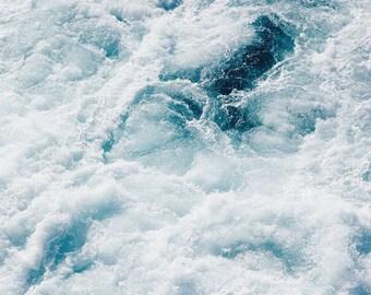Sea photography, ocean print, abstract ocean decor, aerial sea wall art, ocean wave, set of three, blue, home decor, nautical, coastal decor