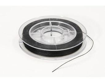 black bead thread (3 spools)
