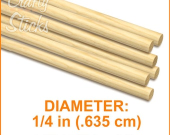 """1/4"""" x 36"""" wood dowels (35)"""