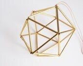 Himmeli Golden Orb. Scandinavian Geometric Ornament (Handmade in Paris). Table Decoration, Party Decoration, Valentine's Day Gift or other!